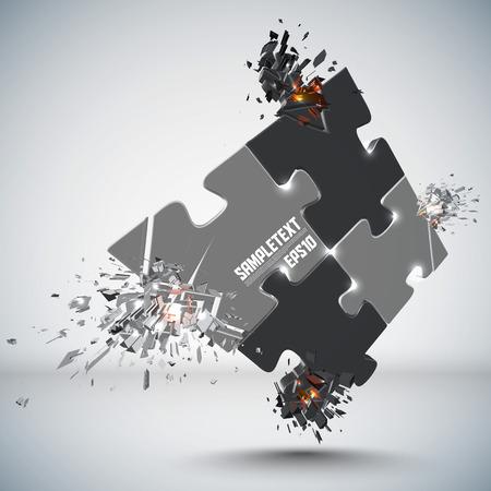 Vector Jigsaw Puzzles Crushing