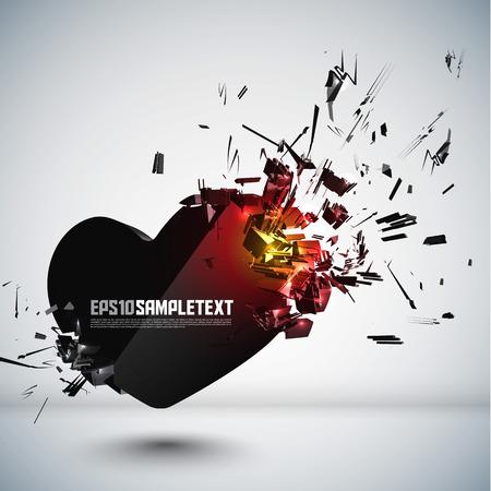 corazon roto: Vector Corazón Crushing