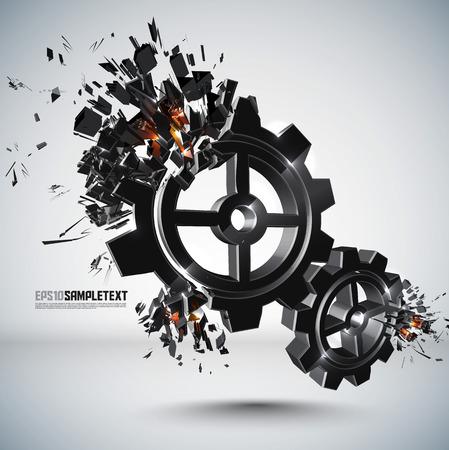 crushing: Vector Cogwheel Crushing