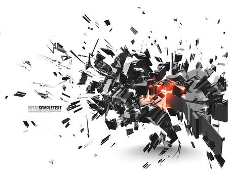 destructive: Vector Crushed Element