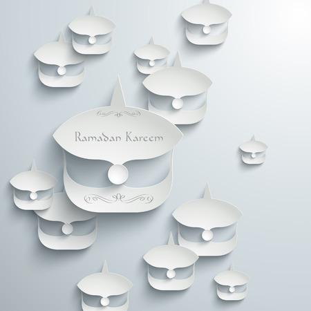 generosidad: Vector 3D Paper malayo Wau Luna Kite Gr�ficos Traducci�n Ramad�n Kareem - mayo Generosidad los bendiga durante el mes santo