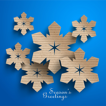 cardboard: Abstract Cardboard Snowflakes