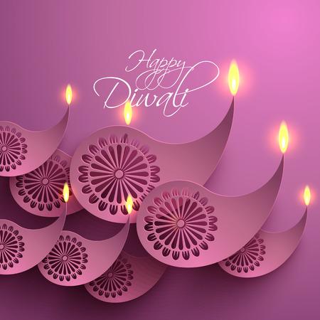 jain: Vector Paper Diwali Diya  Oil Lamp