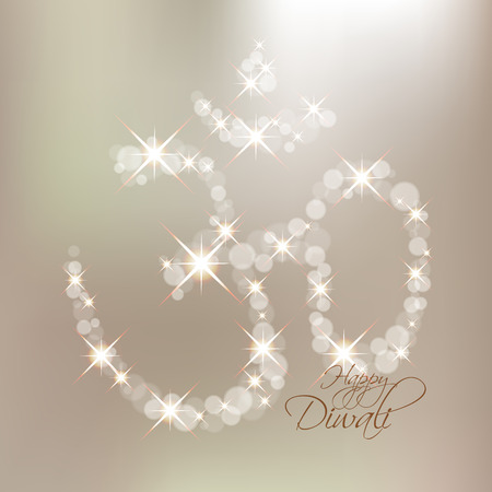 jain: Vector Diwali Om Sign