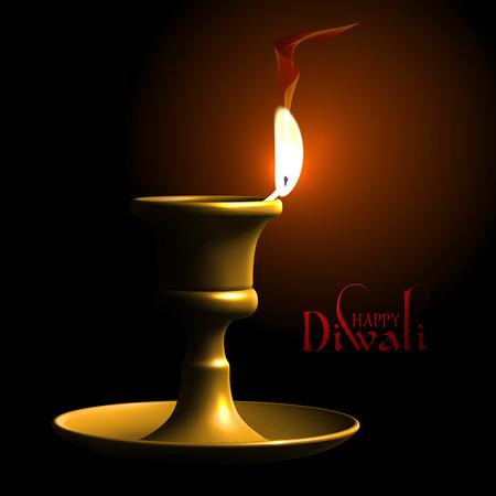 lamp vector: Vector Diwali Oil Lamp