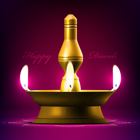 oil  lamp: Vector Diwali Oil Lamp