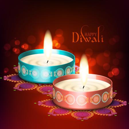 Vector Diwali Oil Lamp Vector