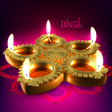 lampen: Vector Diwali �llampe Illustration