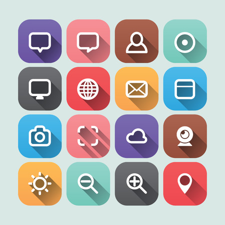 flatten: Vector 2D Flat Icons Design