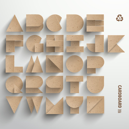 Vector Cardboard Alphabet Set Illustration