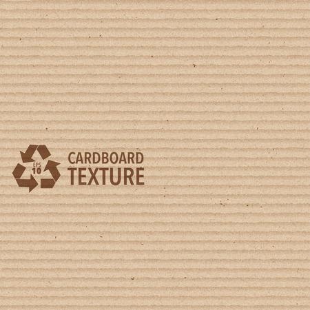 corrugated cardboard: Vector Brown Cardboard Texture