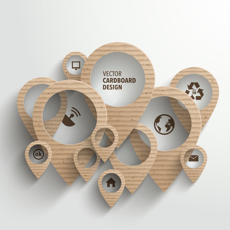 corrugated cardboard: Vector Cardboard Graphics
