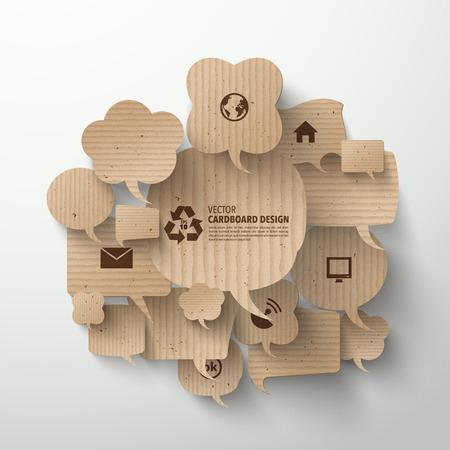 Vector Graphics kartonowe Ilustracje wektorowe