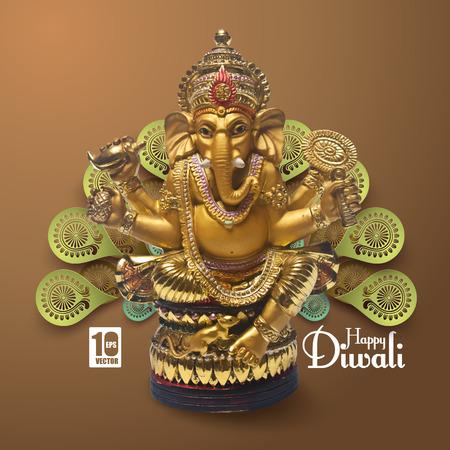 indian god: Vector Lord Ganesha.