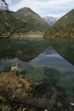 sichuan province: Beautiful scenery in Jiuzhaigou, shot in Sichuan Province, China Stock Photo