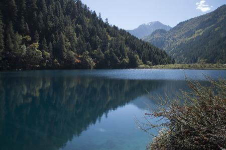 autumn color: scenery in Jiuzhaigou, Shot in Sichuan Province, China Stock Photo
