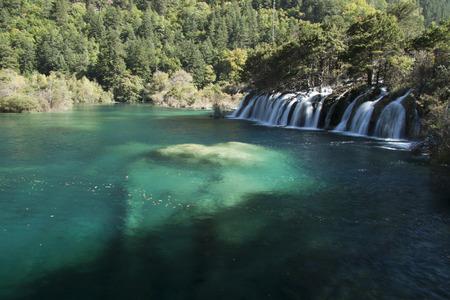 sichuan province: scenery in Jiuzhaigou, Shot in Sichuan Province, China Stock Photo