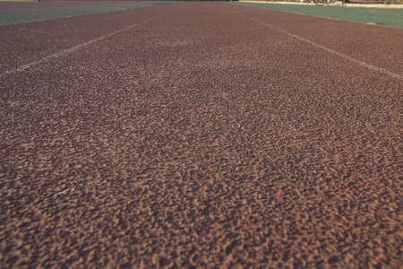 sports venue: Running Track in dusk, shot in Beijing, China Stock Photo