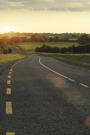 backplate: Winding road in dusk , shot in Ireland
