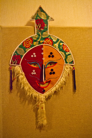 fang: Tibet pot village dance mask, mask Fang Niuwa