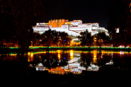 potala: Potala Palace in Lhasa, Tibet Night