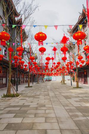 lotus lantern: Anshun in Guizhou Miao Tunpu Old Town building