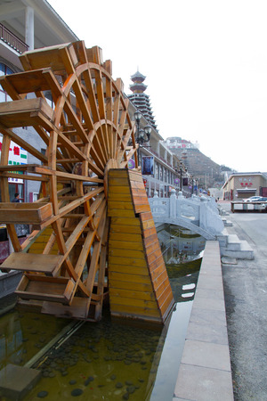 tourism  city: water wheel in the Guizhou colorful Vientiane Tourism City