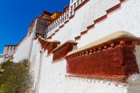 potala: Potala Palace in Lhasa, Tibet fence Editorial