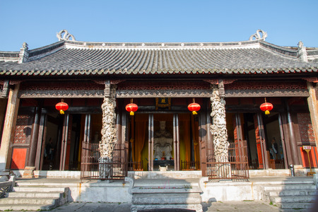 roofed house: Architecture of temple in Anshun City, Guizhou Province, China. Editorial