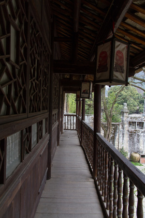 roofed house: China's Guizhou Province, Anshun, Pingba County Tianlongtunbao scenic old town old building tunbao