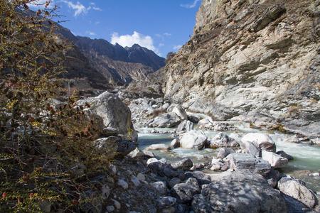 desertification: Tibetan landscape Stock Photo