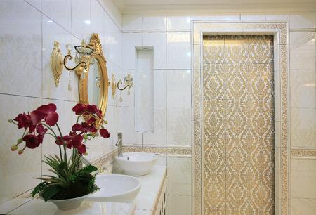 bathroom interior: Interior of a bathroom