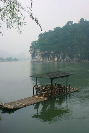raft: A tourist bamboo raft