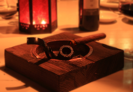 bad color: Pipe and cigar Stock Photo
