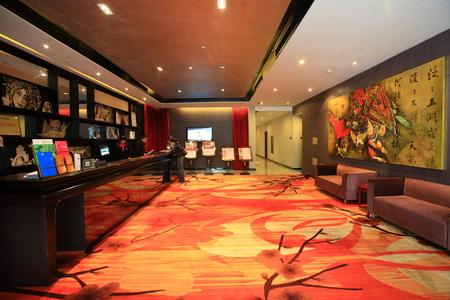 hotel lobby: Inside a hotel lobby