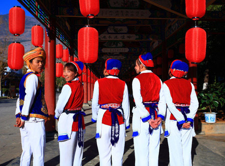 locals: Locals in traditional clothes