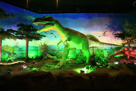 replica: Life size t-rex replica