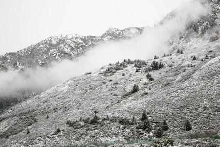snow covered mountain: Snow covered mountain