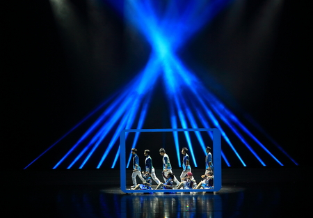 stage props: Modern dance and singing performance on stage