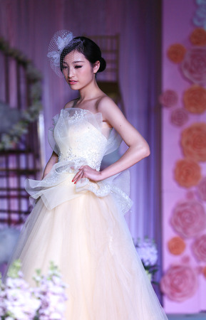 bridal gown: