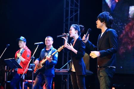 performing: Singers performing on stage