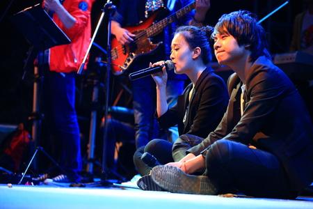 performing: Singer performing on stage