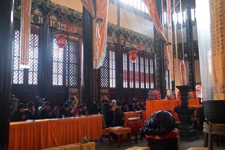 buddhist structures: Interior of buddhist academy