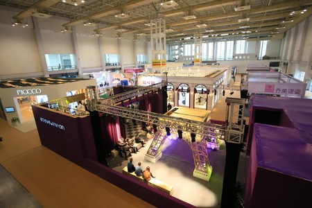 exhibition hall: Exhibition booths in hall