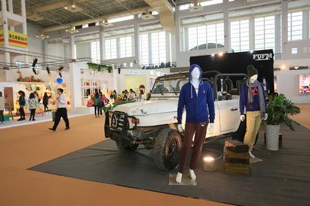 male likeness: Exhibition hall display