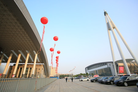 the exhibition hall: Outlook of an exhibition hall