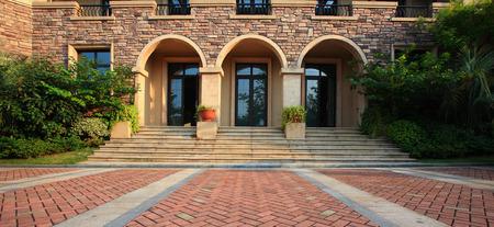kana: Entrance to a house in Kana Hugu Residential Editorial
