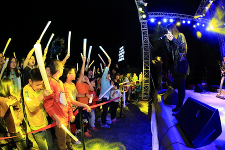 crowd cheering: Crowd cheering during performance Editorial