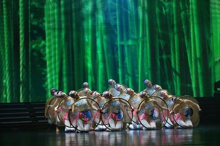 performing: Dancers performing on stage