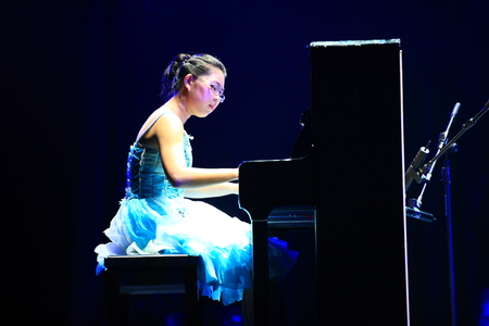 pianist: Pianist performing on stage